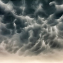 Mammatus clouds by Andy Just Andy - Landscapes Cloud Formations ( clouds, dark, severe, storm, anvil )