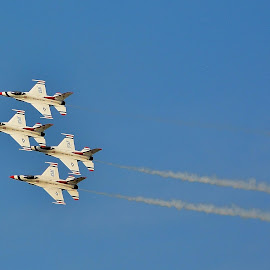 Thunderbirds by Erin Czech - Transportation Airplanes ( airplanes, air force, eaa, oshkosh, formation, thunderbirds )