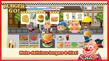 Screenshot of Burger Go - Fun Cooking Game