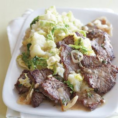 Beef Medallions with Spring Mashed Potatoes