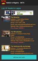 Screenshot of Hotels In Nigeria