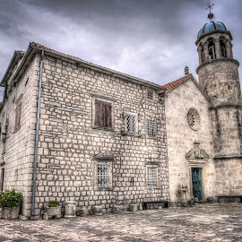 Our Lady of the Rocks island, Montenegro 002 by IP Maesstro - Buildings & Architecture Places of Worship ( montenegro, hdr, church, maesstro, monestary, island )