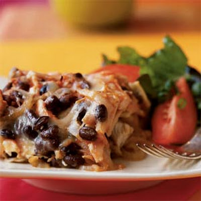 Black Bean and Chicken Chilaquiles