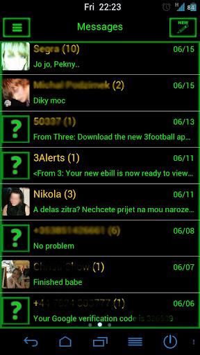 Go SMS Pro NeonPremium Theme