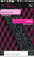 Screenshot of GO SMS - Hot Pink Plaid