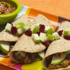 Peanut Butter & Apple Tacos