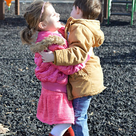 by Shannon Maltbie-Davis - Babies & Children Children Candids ( playing, hug, park, happy, children, cousins, smile )