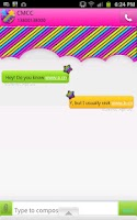 Screenshot of GO SMS - Neon Rainbow Sky