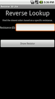 Screenshot of Resistor ID Lite