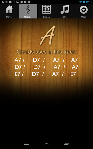 Guitar Jam Tracks Scales Buddy - screenshot