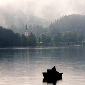 Morning fishing! by Jože Borišek - Landscapes Weather ( bohinj ( slovenia )