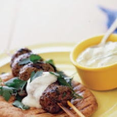 Grilled Beef Kebabs with Yogurt Sauce