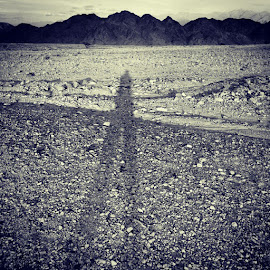 ,vs.. by Shai Israel - Landscapes Deserts ( stand, alone, man, nature, desert, mountains )