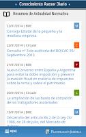 Screenshot of Conocimiento Asesor Diario
