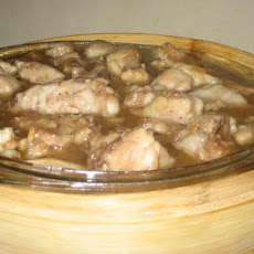 Chicken Steamed With Fresh Lemons (Sai Ling Mung Ching Gai)