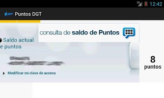 Screenshot of Puntos DGT