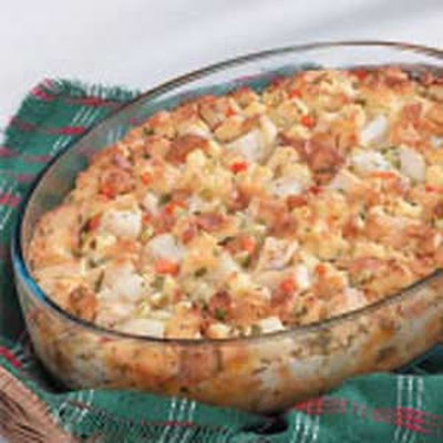 Hearty Chicken Strata