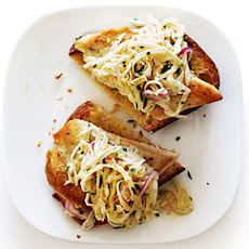 Open-Face Chicken Sandwiches with Celery Root Salad