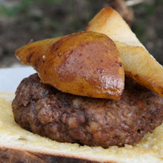 Venison And Pork Burgers With Sautéed Pears Recipe