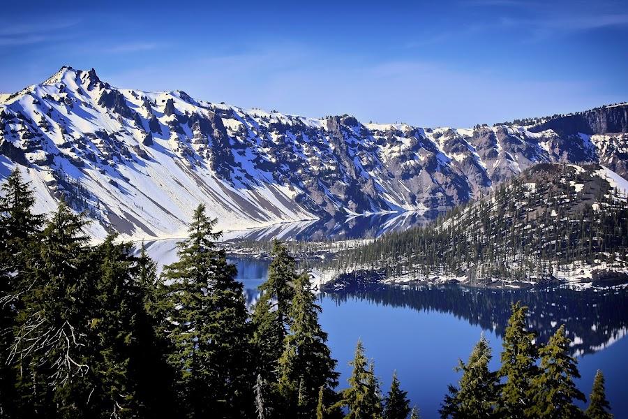 Crater Lake - Oregon by Ronald Susaya - Uncategorized All Uncategorized ( mazama, oregon, crater lake, cascades, deep blue,  )