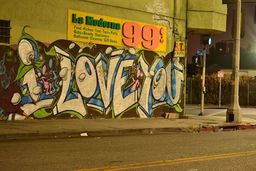 You can check out the daily entries of the blog, or look back to the origins of the recent street art movement in LA.