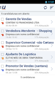 Screenshot of Vagas de emprego