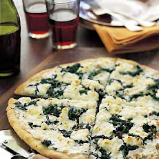 Pizza Bianca with Goat Cheese and Greens
