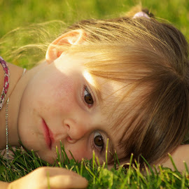 Resting by Giselle Pierce - Babies & Children Children Candids ( child, little girl, girl, children, summer, posing )