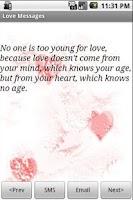 Screenshot of Love Messages (lite)