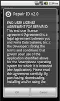 Screenshot of Repair ID