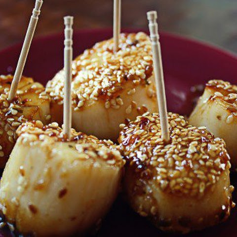 Sesame Crusted Asian Scallops