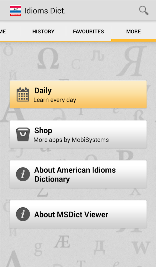 American Idioms Dictionar Screenshot 4