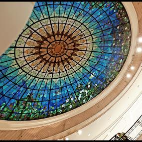 The Art of the Tempered Glass by Daniel Legendarymagic - Buildings & Architecture Architectural Detail ( interior, dcp, hongkong, timessquare, ceiling, colors, glass, digicore, legendarymagic, sun, design, colours )