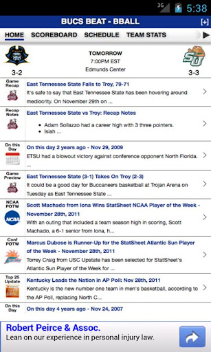 East Tennessee State Basketbal
