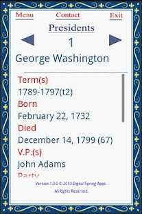 Know Your US Presidents - screenshot