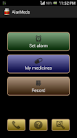 Screenshot of AlarMeds alarm meds reminder