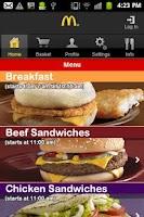 Screenshot of McDonald's Egypt