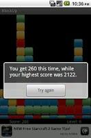 Screenshot of BlockUp