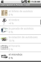 Screenshot of Spanish in Pictures Trip Trial