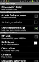 Screenshot of Custom Watch for SmartWatch