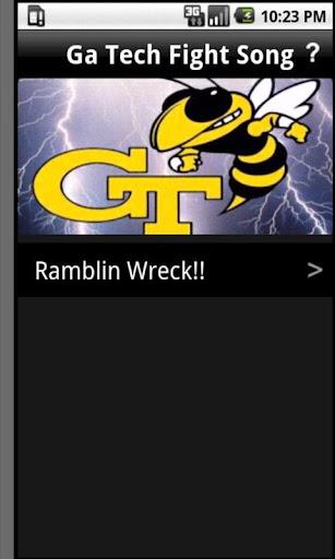 GA Tech Ramblin wreck song