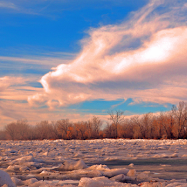 River of ice by Jeffrey T Johnson - Landscapes Waterscapes ( icewater, nature, waterscape, nebraska, river )