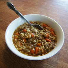 Brown Rice-Lentil Soup