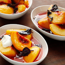 Opal Basil-Macerated Peaches
