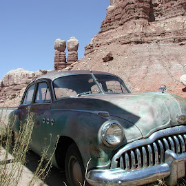 Buick in Cow Canyon by Chuck Cornell - Transportation Automobiles (  )