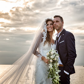 by Vasilis Tsesmetzis - Wedding Bride & Groom