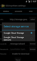 Screenshot of GSAnywhere (Cloud Storage)