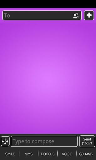 玩個人化App|GOSMSTHEME泡泡紫色免費|APP試玩