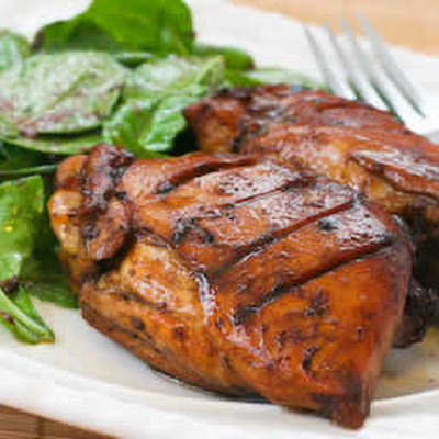 Roasted Chicken Thighs with Black Bean Garlic Marinade