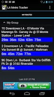 Screenshot of LA Metro Tracker
